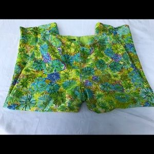 MUSE sz 10 pants sequins embroidered  100% silk